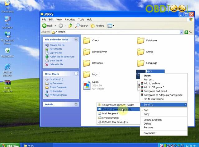 Open MPPS folder on C