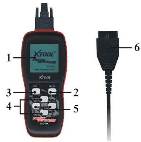 Xtool VAG401 Scan Tool with Oil SRS Reset Function-3