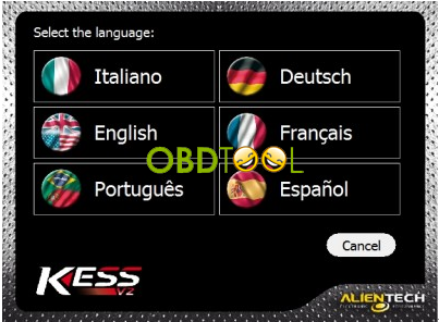 Kess v2 Ksuite language select