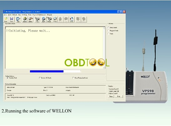 Running Wellon VP598 programmer software
