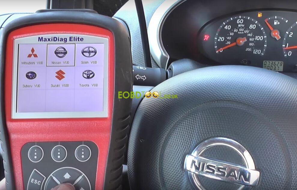 Autel-MD802-reset-Nissan-airbag-light-4