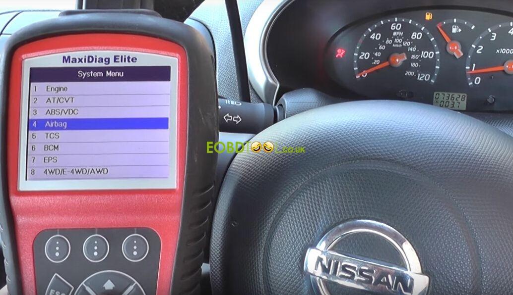 Autel-MD802-reset-Nissan-airbag-light-5
