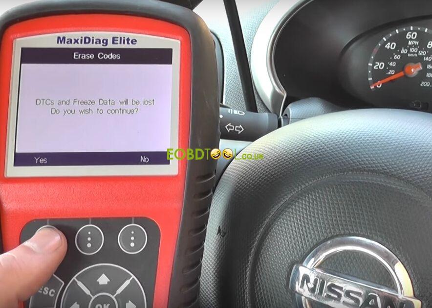 Autel-MD802-reset-Nissan-airbag-light-8