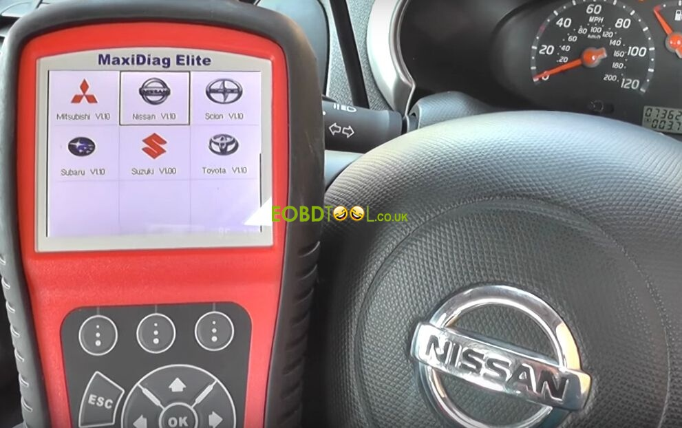 Autel-MD802-reset-Nissan-airbag-light-9