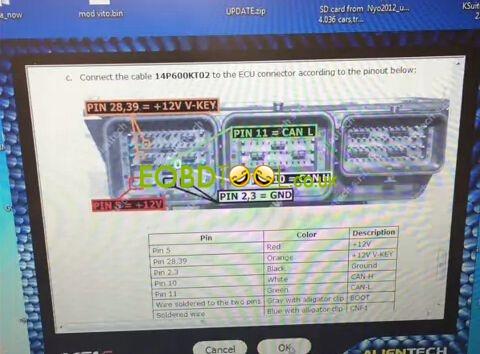 How to read Ford Transit SID208 ECU by KTAG clone Steps