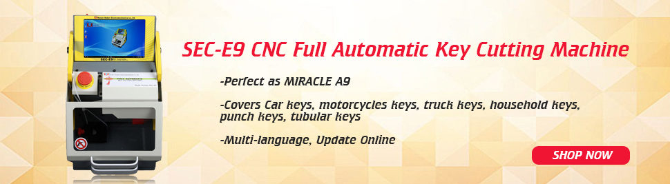 2017 Newest SEC-E9 CNC Automatic Key Cutting Machine Update Online Perfect as MIRACLE A9