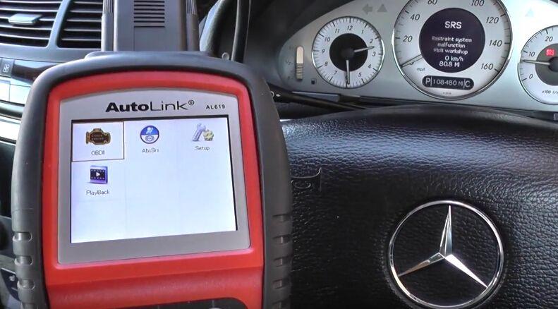 Mercedes W211 SRS Reset: Autel AL619 or Launch Easydiag OK
