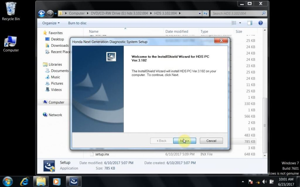 Honda HDS 3 102 004 WIN7 download& install for HDS HIM