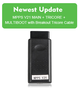 MPPS V21 MAIN + TRICORE + MULTIBOOT with Breakout Tricore Cable