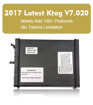Ktag KTM100 V7.020 Newly Add 100+ Protocols No Tokens Limitation