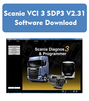 Scania VCI 3 SDP3 V2.31 Software Download