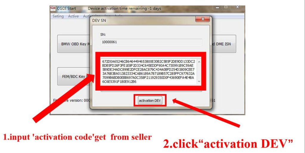 How To Activation CGDI Prog Key Programmer