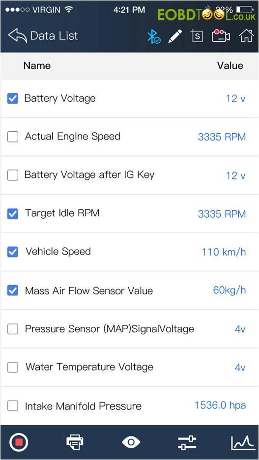 BMW data stream
