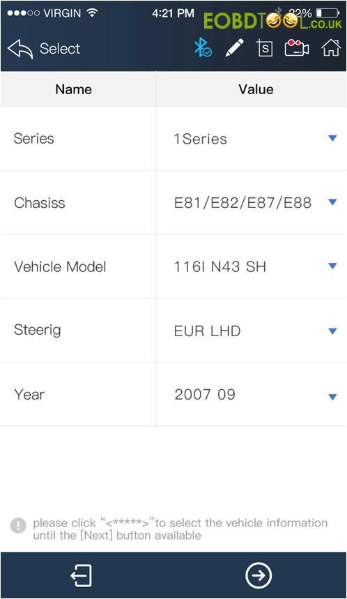 Vpecker E4 APP do BMW