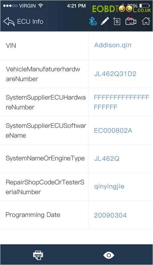 Vpecker E4 APP read BMW ECU
