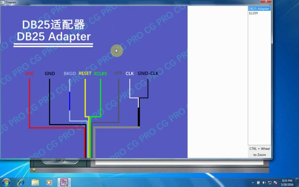 CG Pro 9S12 programmer Diagram