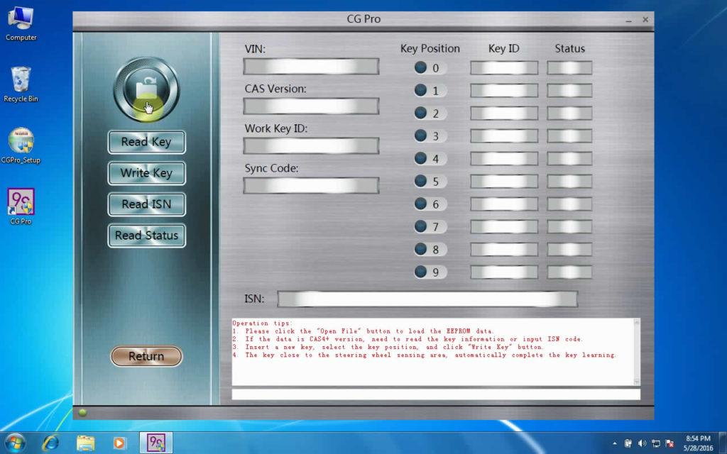 CG Pro 9S12 programmer