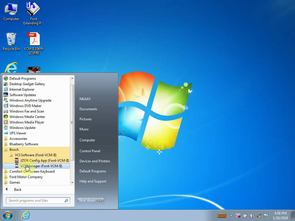 How to Install Ford V108 01 on Win7 with VCMII Clone