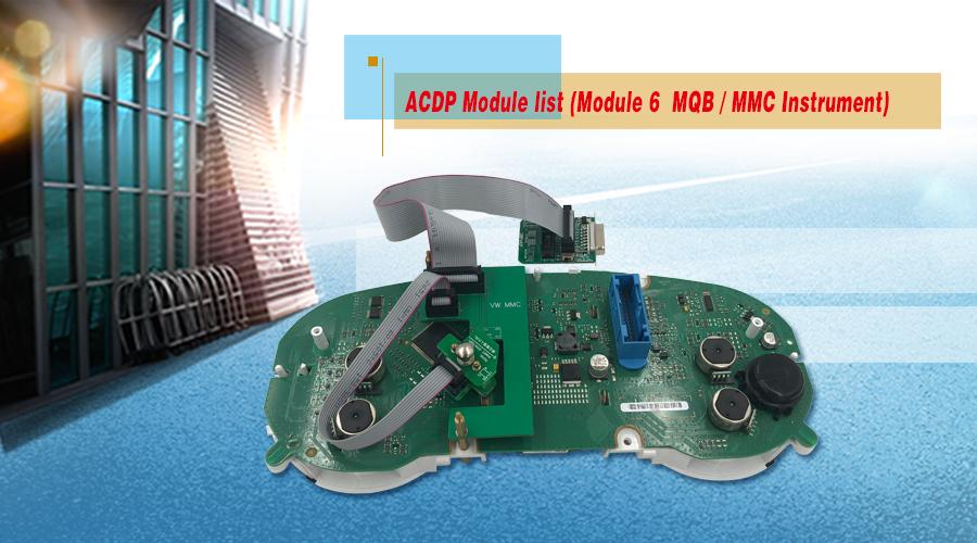 Update! Yanhua ACDP Adds 3 Modules MQB MMC, BMW Key, FRM etc