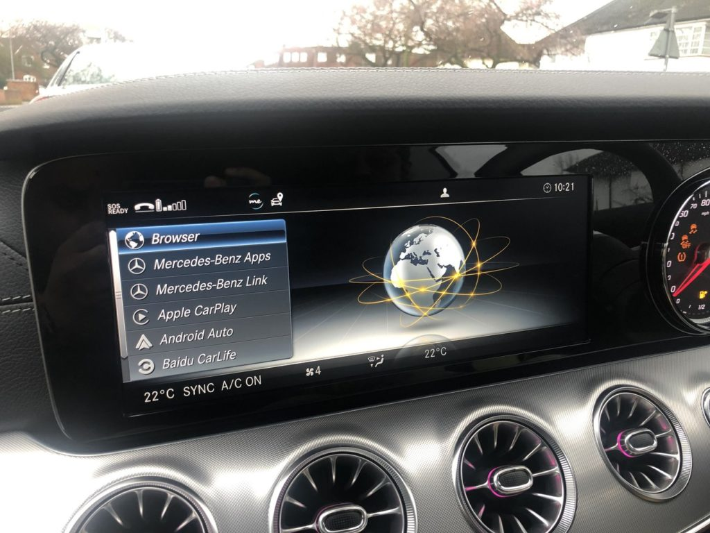Benz E-Class (W213) activate on Audio 20 with Media Screen