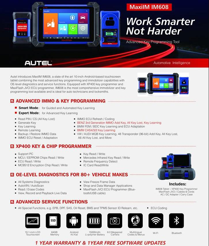Buy Autel MaxiIM IM608 or Autel MaxiSYS MS908S PRO - cardiag