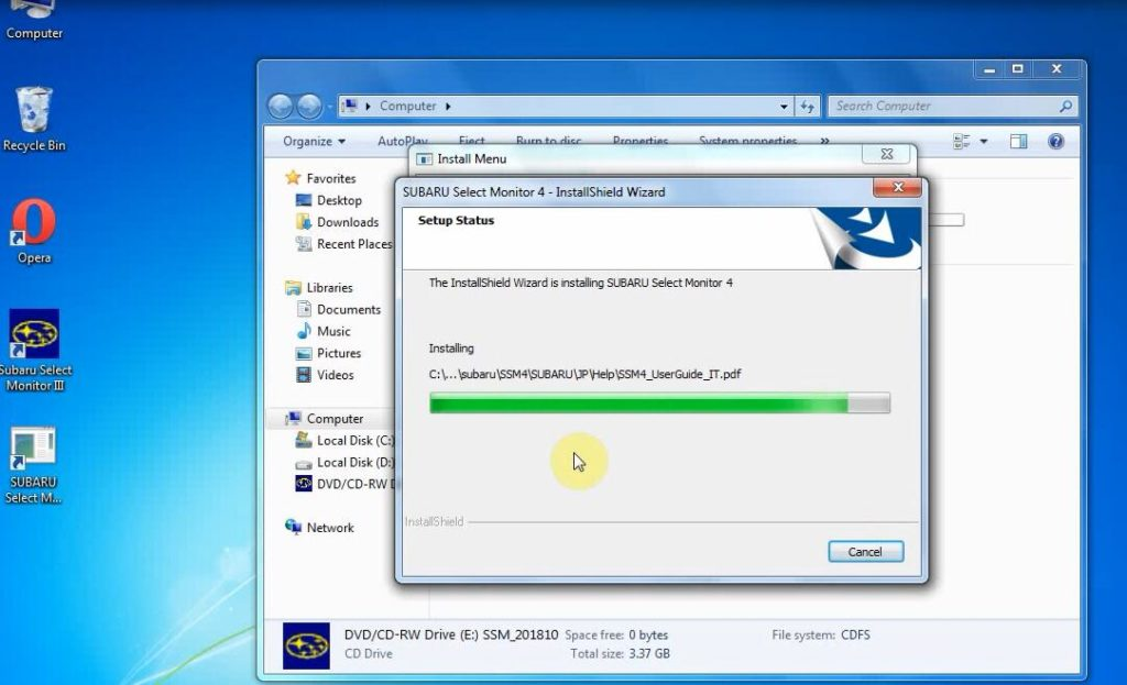 V2018 4 VXDIAG SUBARU SSM-III FREE DOWNLOAD+ INSTALLATION on Windows