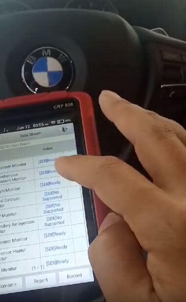 Launch CRP808 Test: Do BMW X4 2015 OBDII Diagnosis OK