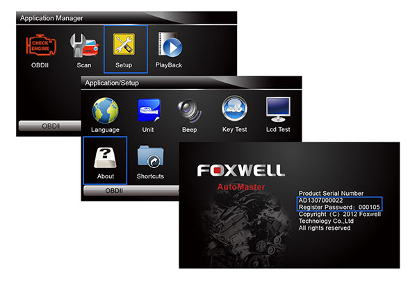 Foxwell scanner FAQs: How to retrieve ID +password? Why