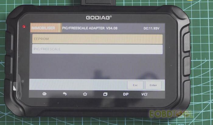 godiag gd801 screen