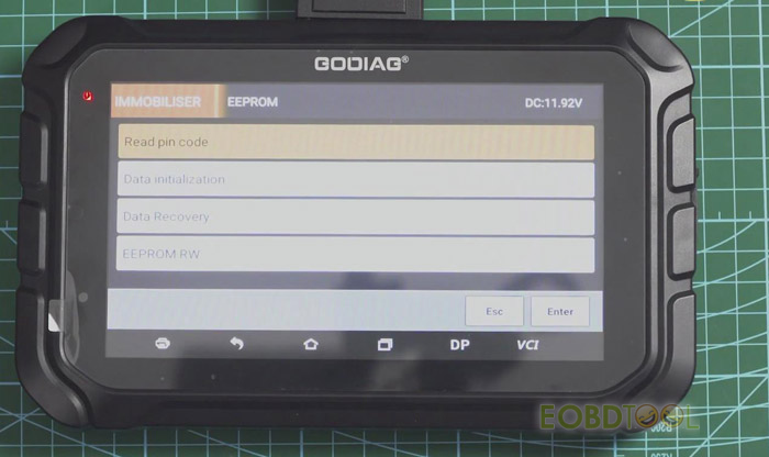gd801 read pincode