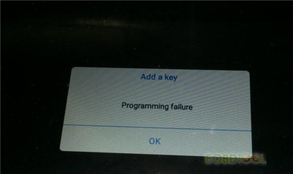 Xtool Programming failure