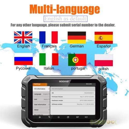 godiag gd801 language