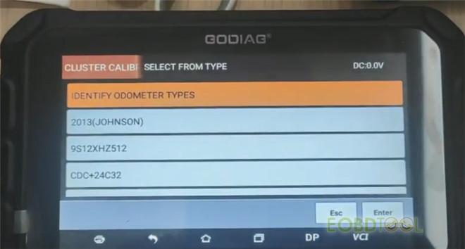 godiag gd801 calibrate