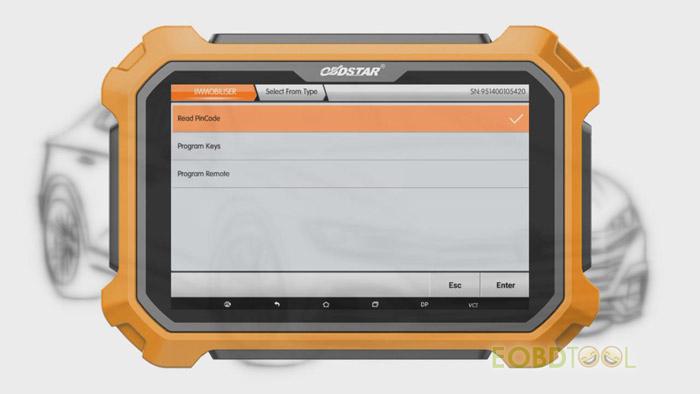 OBDSTAR X300 DP Plus Read Pincode