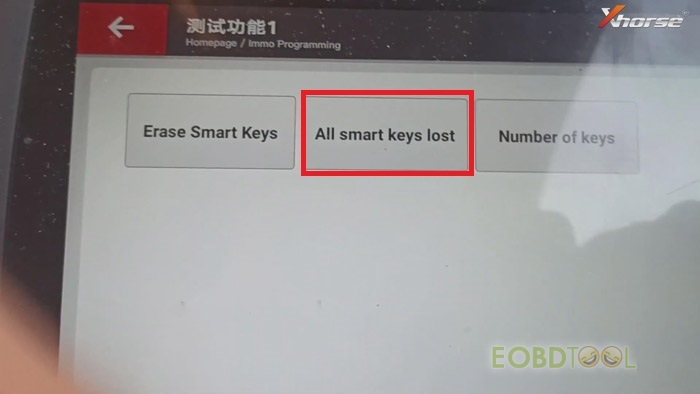 All smart keys lost