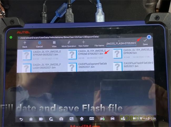 im608 saves flash files