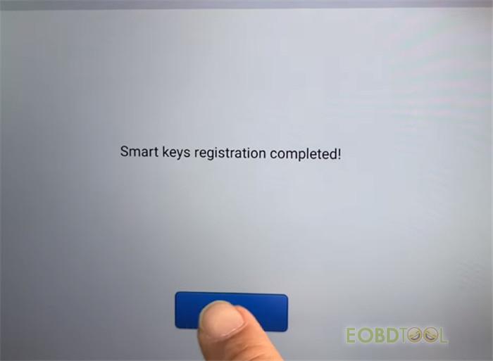 smart key registration is completed