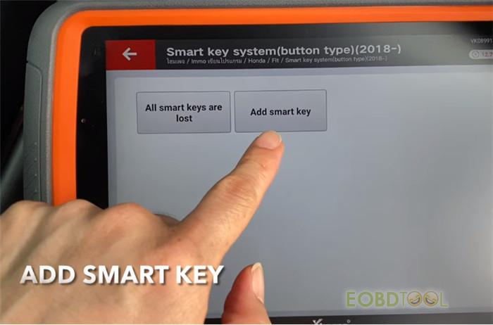 Add smart key