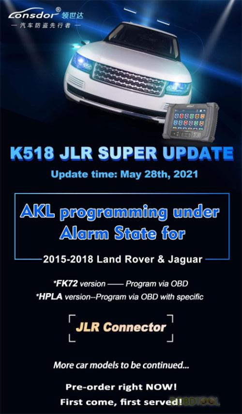 Lonsdor K518 JLR Super Update