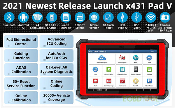 launch x431 pad v