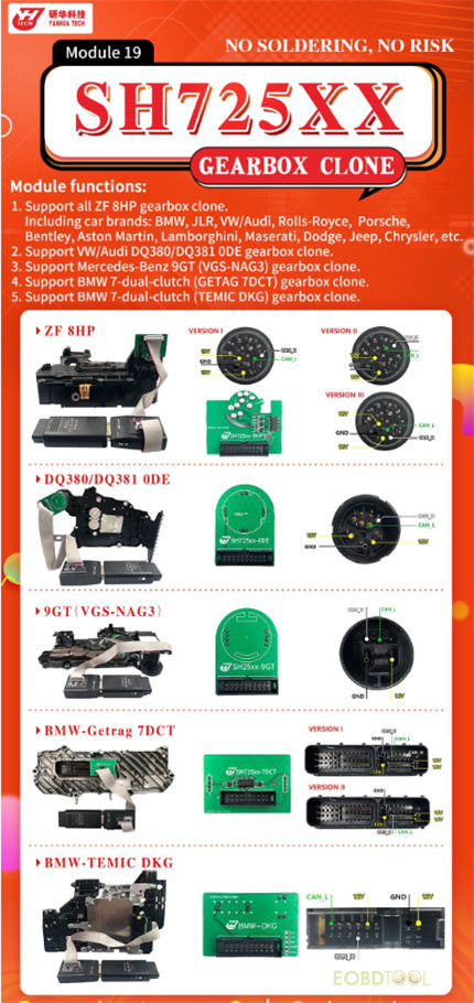 yanhua module 19 sh725xx